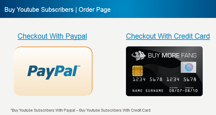 buy real youtube subscribers through paypal